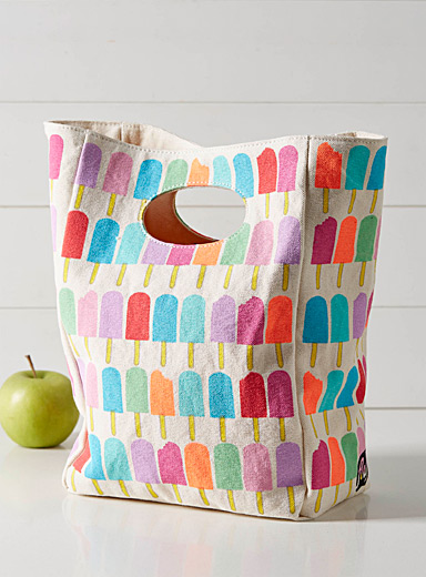 Popsicle cutout handle lunch bag