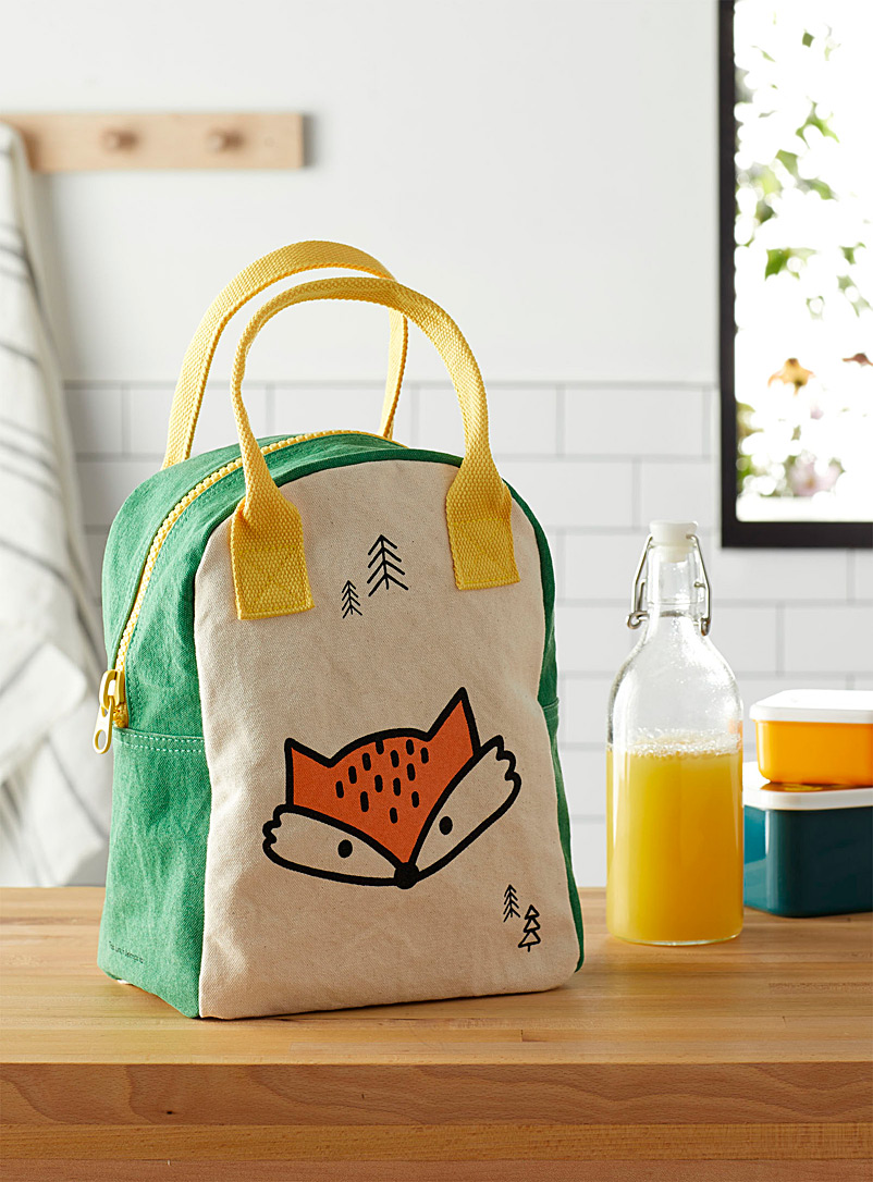 Fluf Assorted Sly fox organic cotton lunch bag