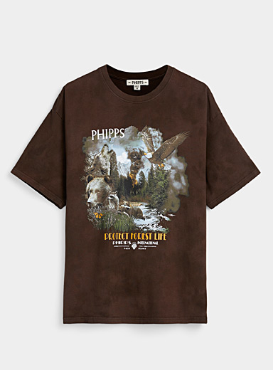 Phipps Black Protect Forest Life T-shirt for men