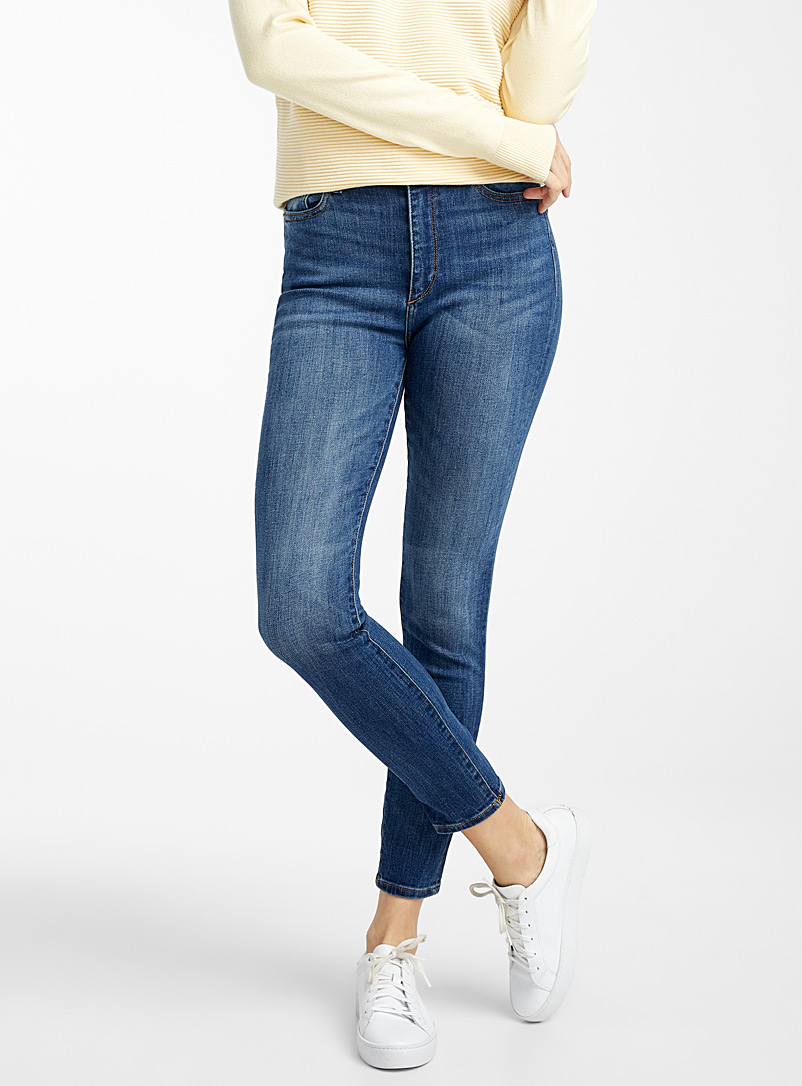 DL1961 Slate Blue Farrow faded skinny ankle jean for women