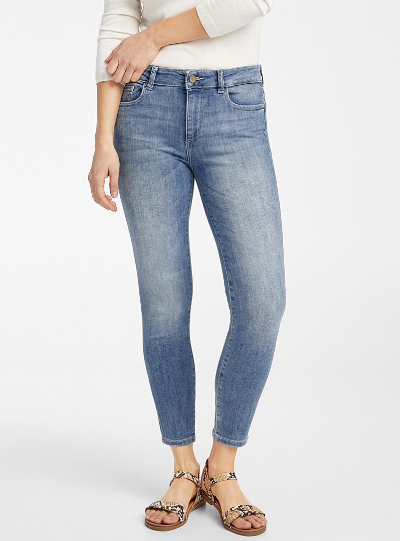 DL1961 Baby Blue Florence faded skinny jean for women