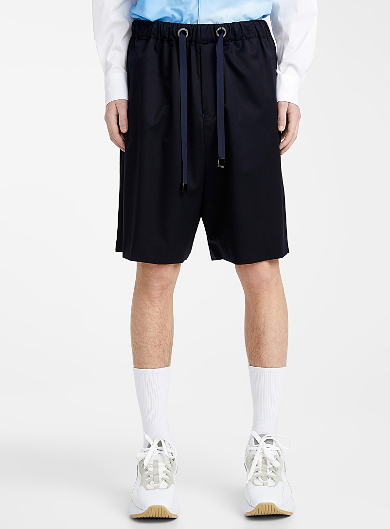 Fumito Ganryu Marine Blue Navy Bermudas for men