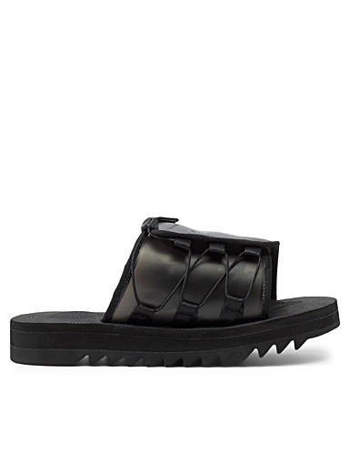 Fumito Ganryu Black Dao slides for men