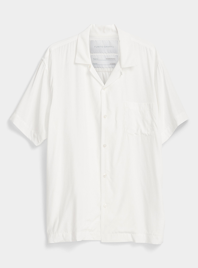 Fumito Ganryu White Fluid shirt for men