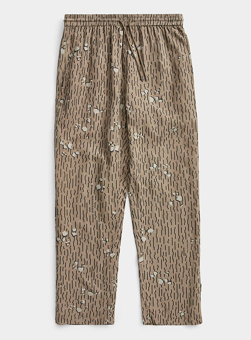 Maharishi Cream Beige Neo Rain camo pant for men