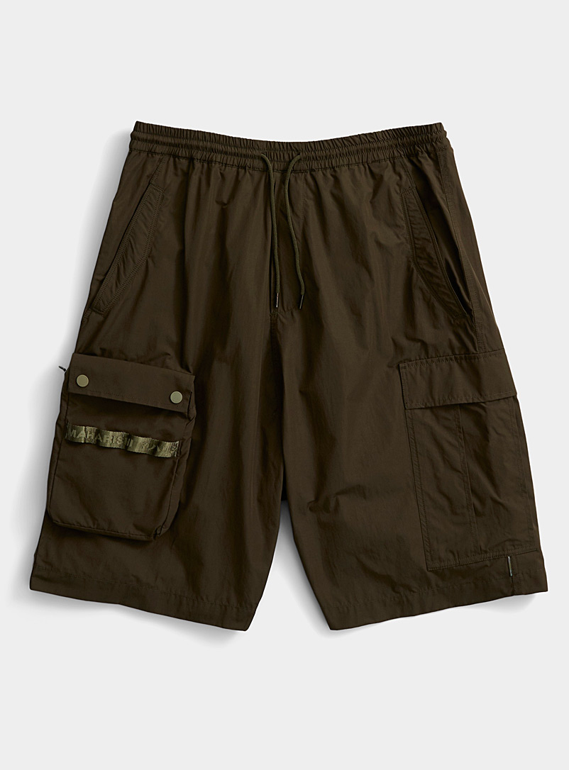 Maharishi Mossy Green Detachable pocket cargo Bermudas for men