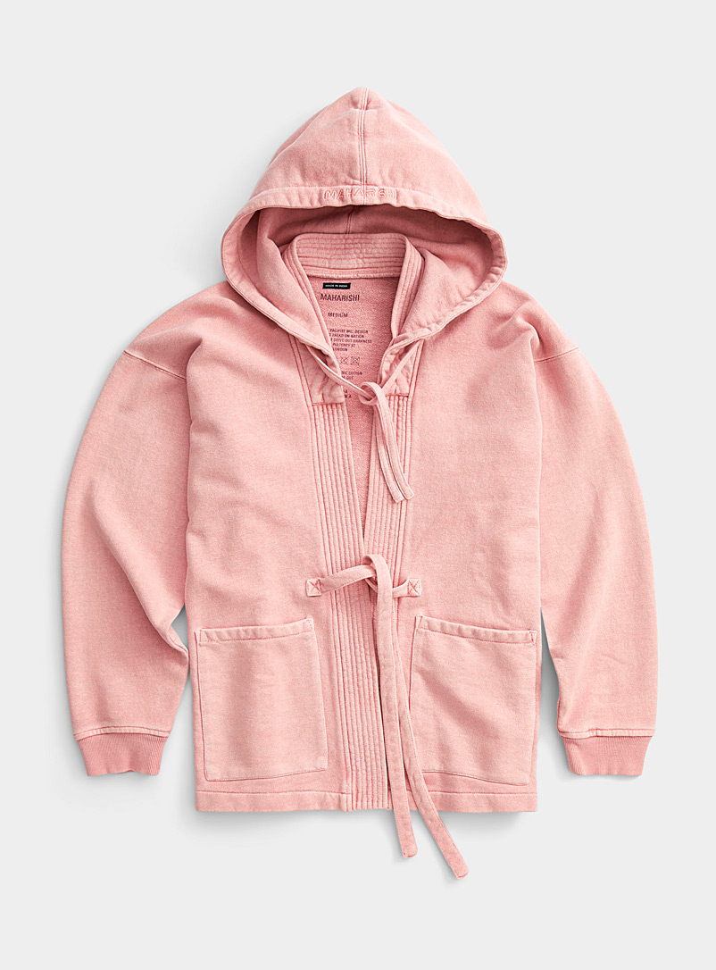 Maharishi Pink Hooded kimono sweatshirt for men
