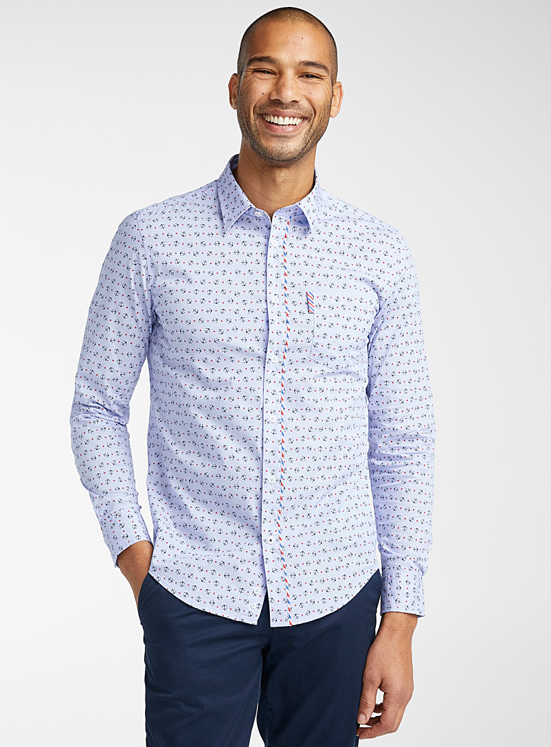 United Colors of Benetton Blue Sea legs shirt  Modern fit for men