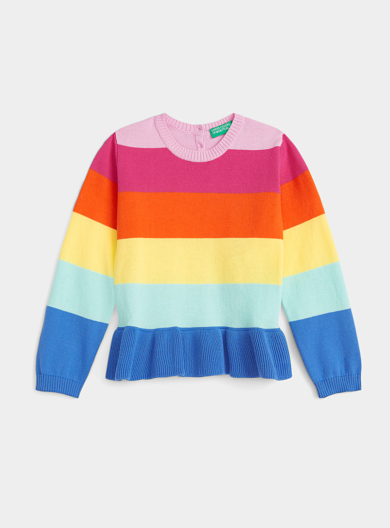United Colors of Benetton Assorted Coloured-stripe sweater for women