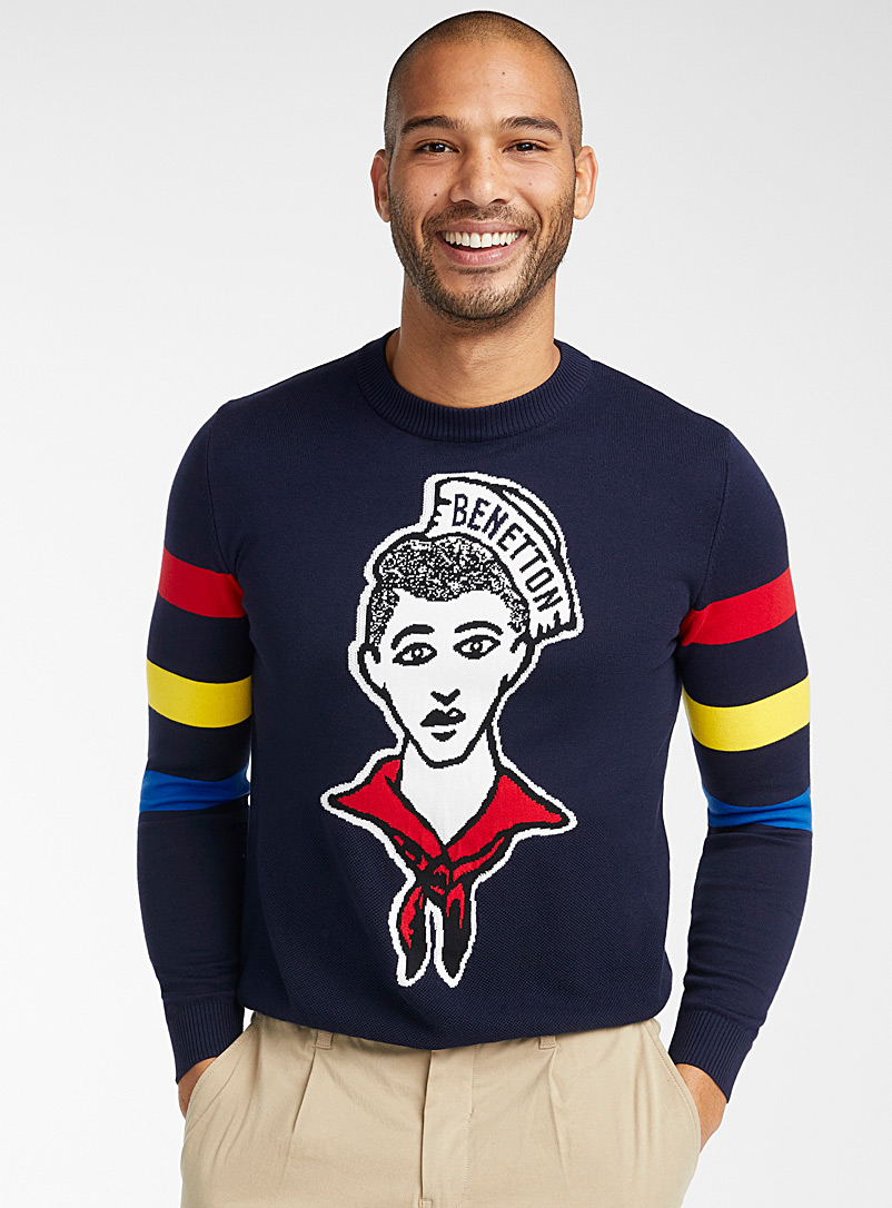 United Colors of Benetton: Le pull matelot Marine pour homme