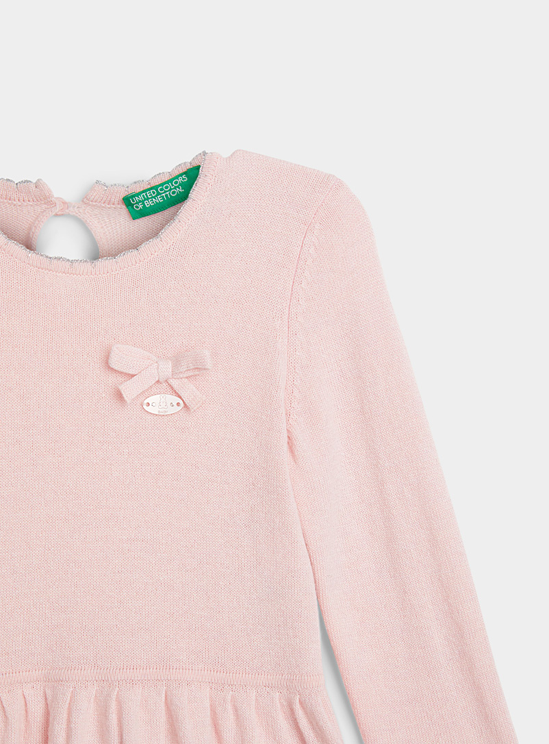 United Colors of Benetton Pink Twisted-cable knit dress  Kids for women