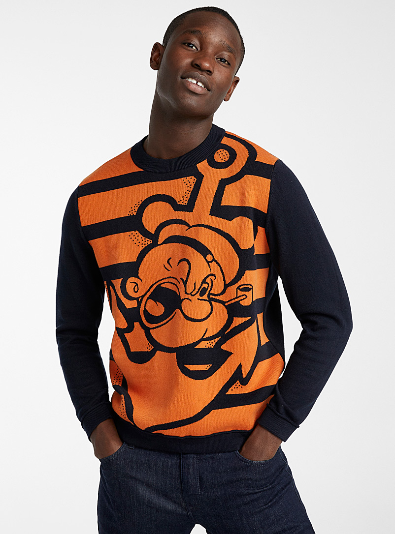 United Colors of Benetton Marine Blue Popeye the Sailor sweater for men