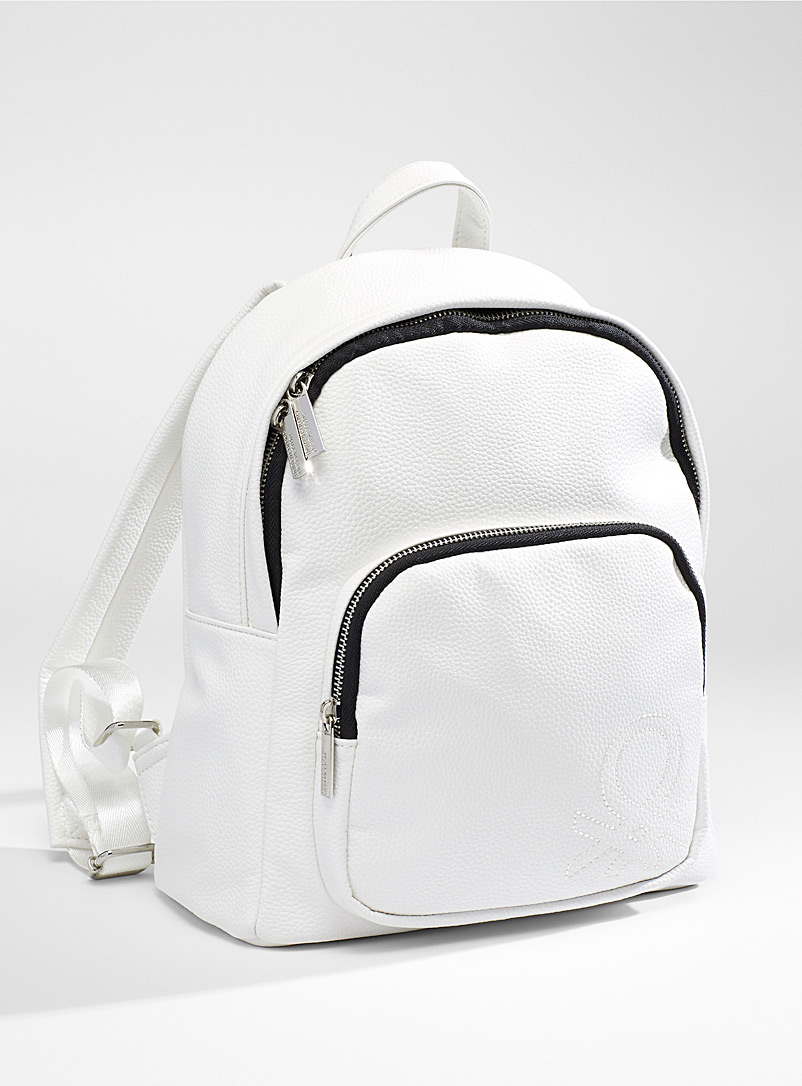 United Colors of Benetton White Structured backpack for women