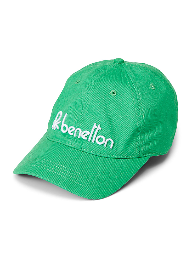 United Colors of Benetton Green Colourful signature cap for men