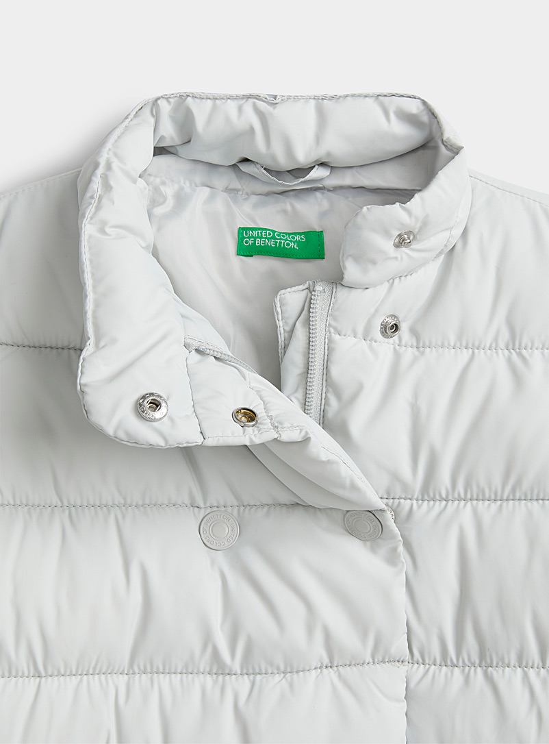 United Colors of Benetton Silver Double-breasted puffer jacket  Kids for women