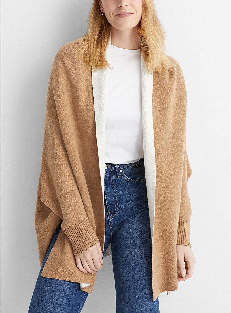 United Colors of Benetton Honey Reversible cape cardigan for women