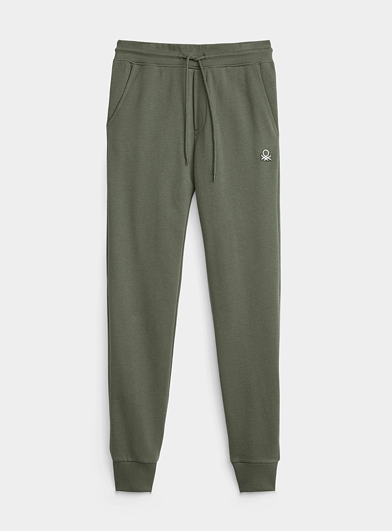 United Colors of Benetton Mossy Green Accent logo sweatpant for men