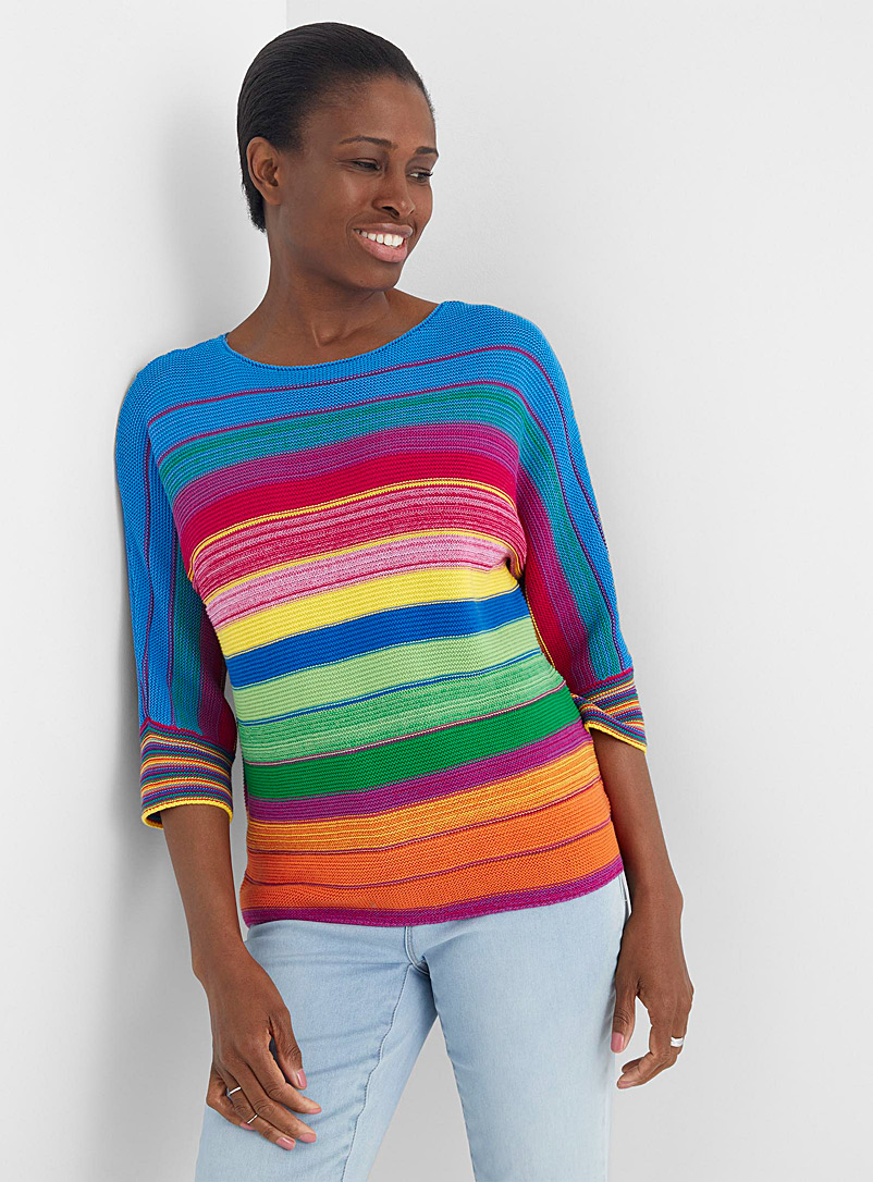 United Colors of Benetton Assorted Candy-stripe sweater for women