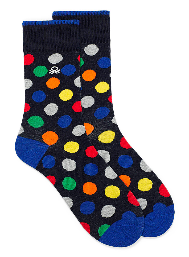 United Colors of Benetton Oxford Multi-print socks for men