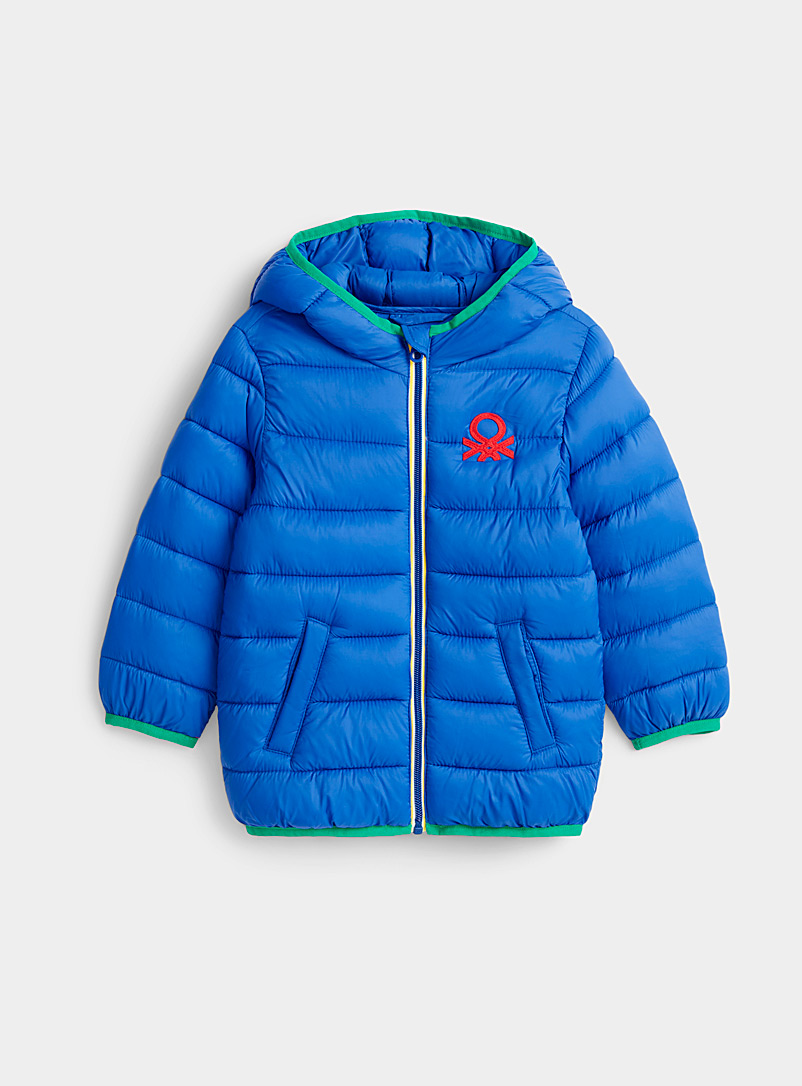 United Colors of Benetton Sapphire Blue Lighweight colourful puffer jacket  Kids for women