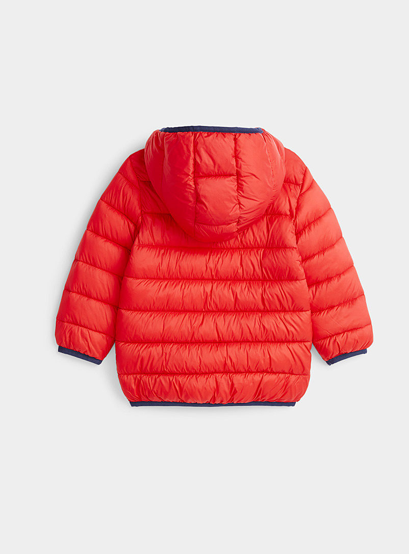 United Colors of Benetton Red Lighweight colourful puffer jacket  Kids for women
