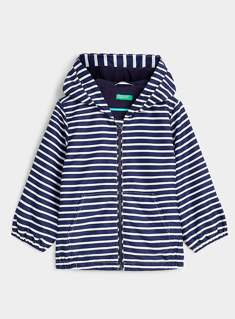 United Colors of Benetton Patterned Blue Nautical stripe jacket Kids for women