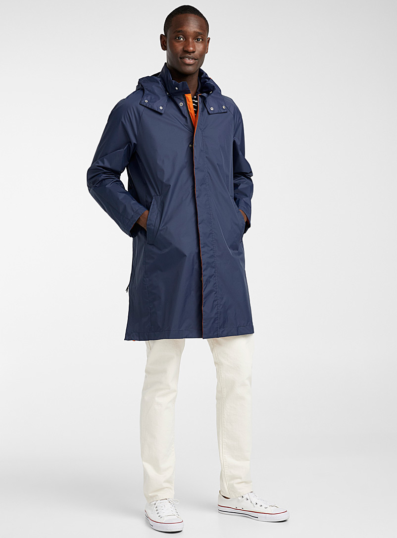 United Colors of Benetton Marine Blue Nylon parka for men