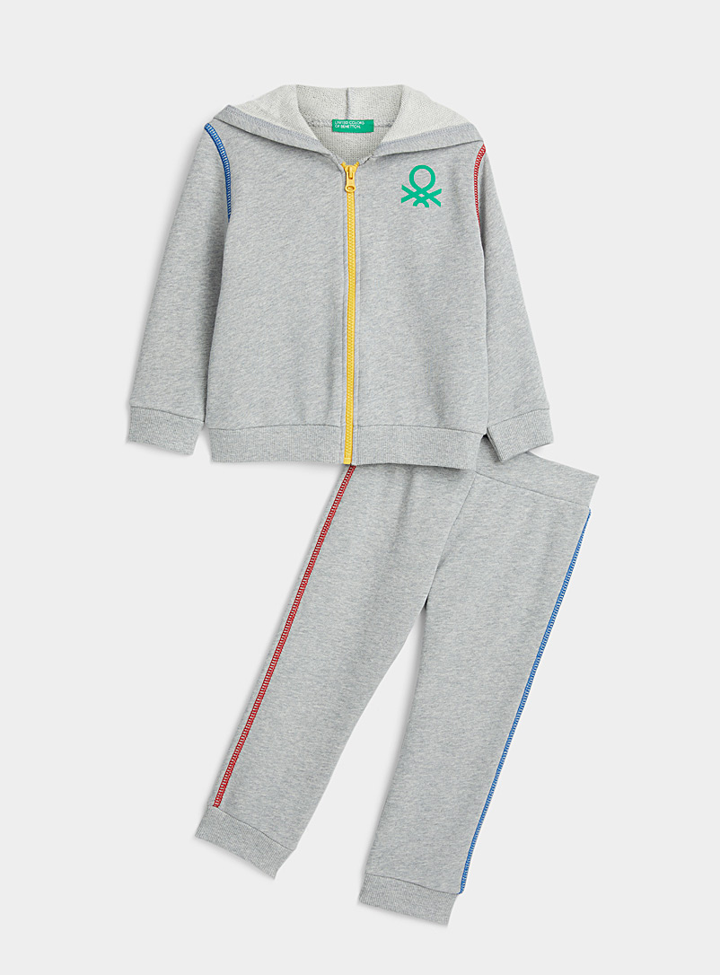 United Colors of Benetton Grey Colourful tracksuit  2 pieces - Kids for women