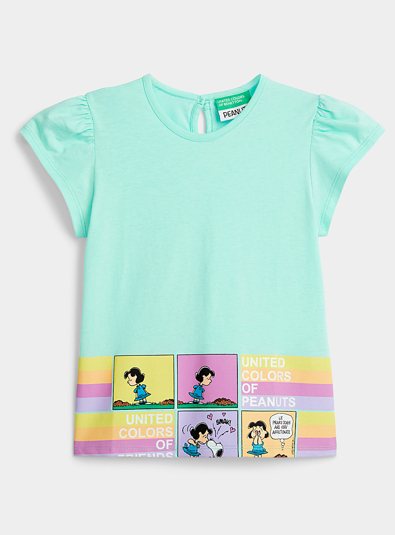 United Colors of Benetton Patterned Green Snoopy T-shirt Kids for women