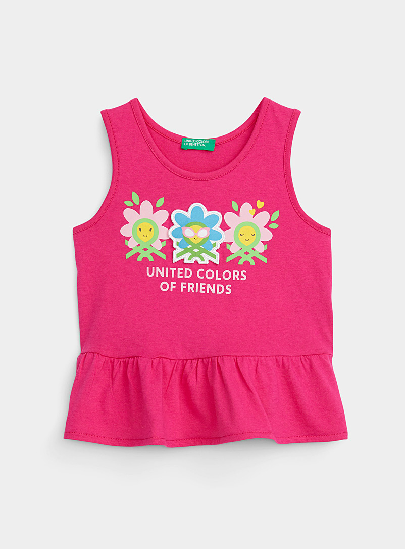 United Colors of Benetton Pink Flower trio cami Kids for women