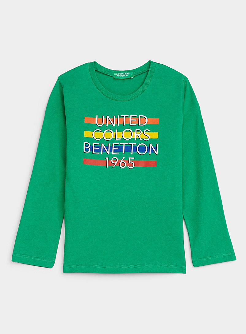 United Colors of Benetton Green Signature stripe tee Kids for women