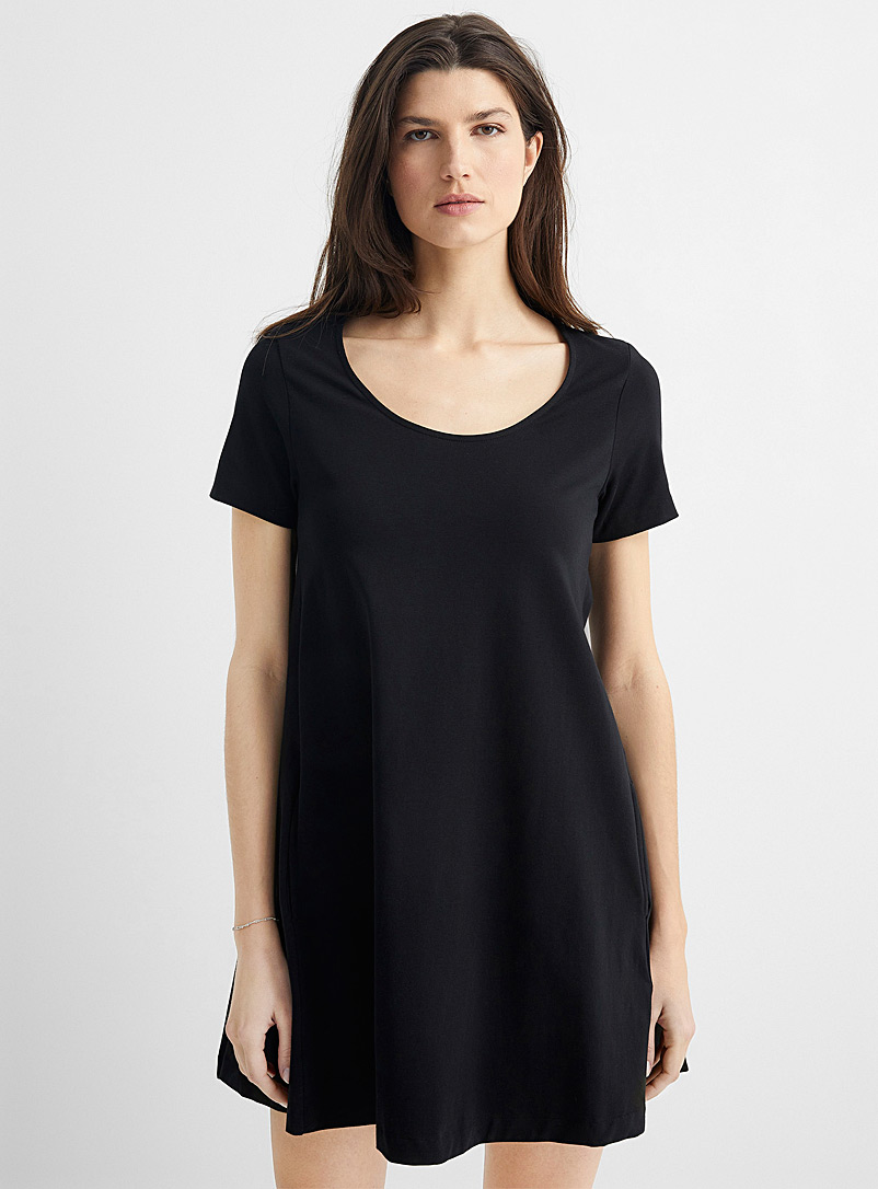 United Colors of Benetton Black A-line T-shirt dress for women