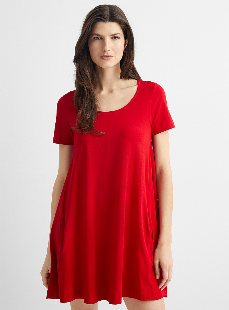 United Colors of Benetton Red A-line T-shirt dress for women