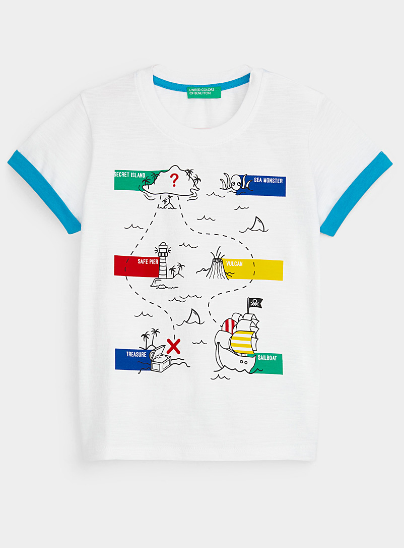 United Colors of Benetton Patterned White Pirate adventure tee Kids for women
