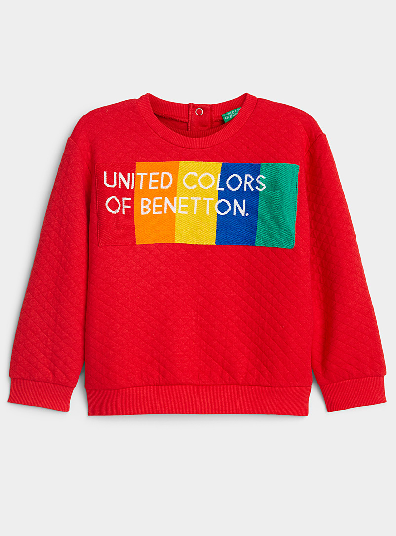 Rainbow logo quilted sweatshirt  Kids
