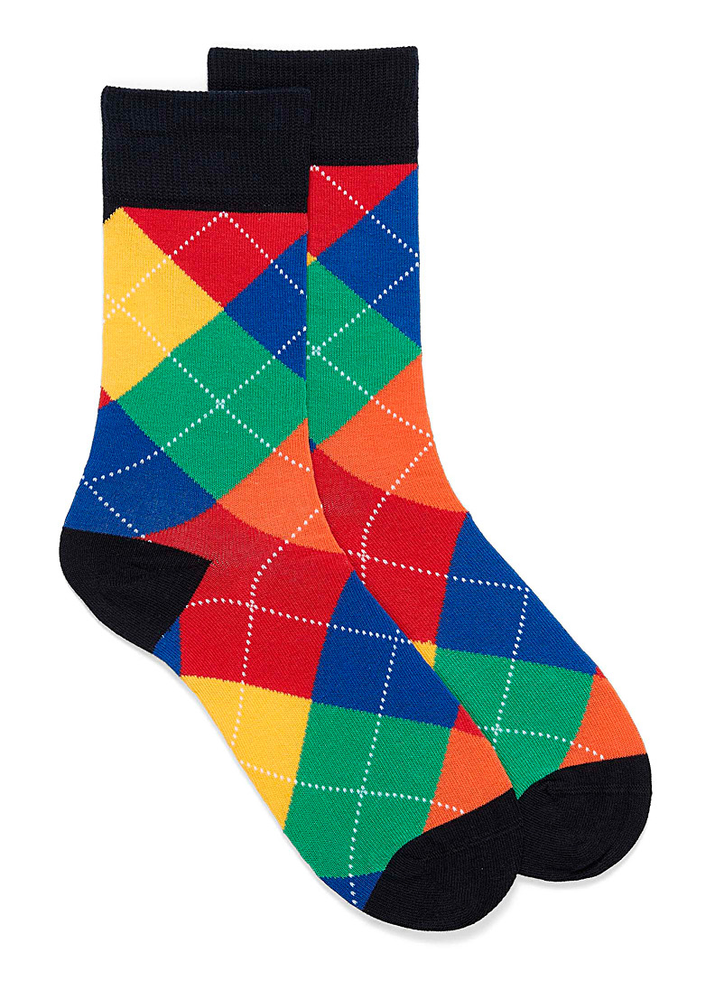 United Colors of Benetton Assorted Iconic Argyle socks for men