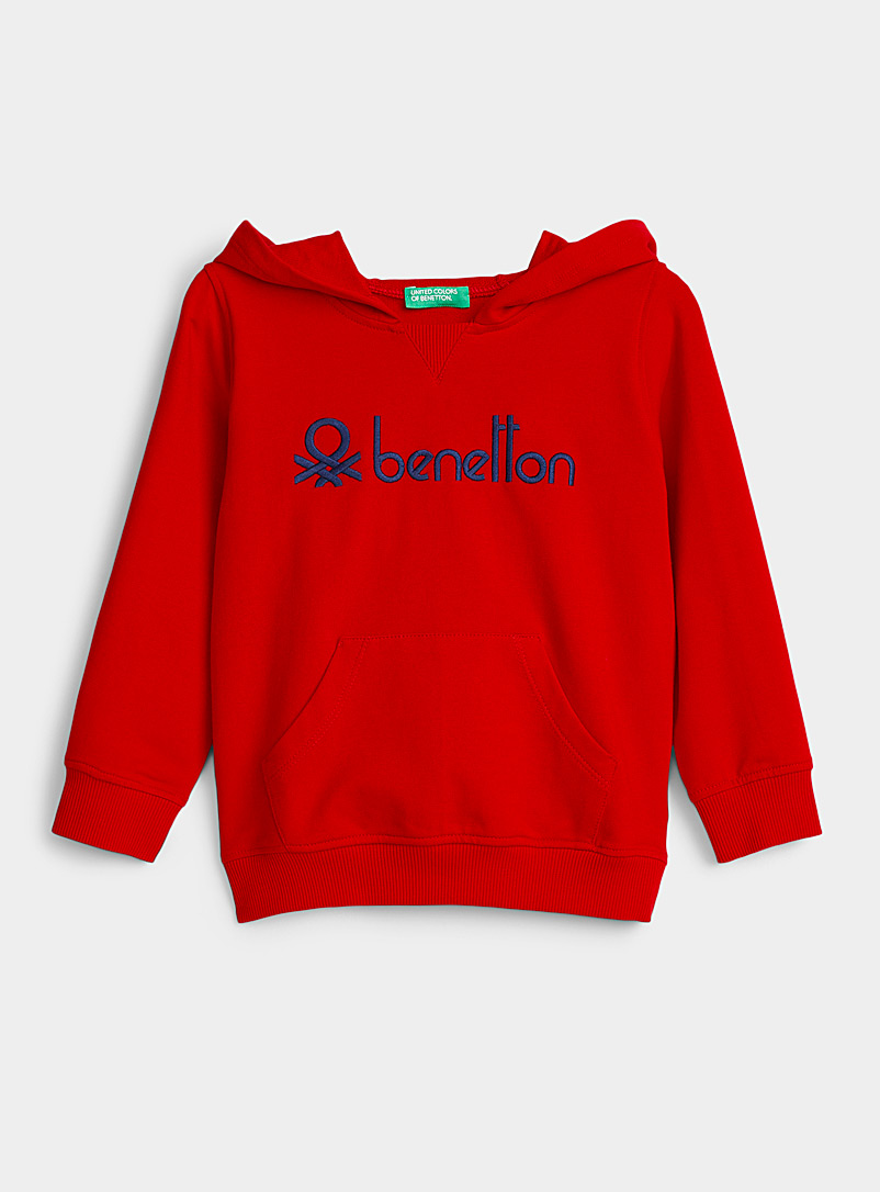 United Colors of Benetton Red Colourful hoodie  Kids for women