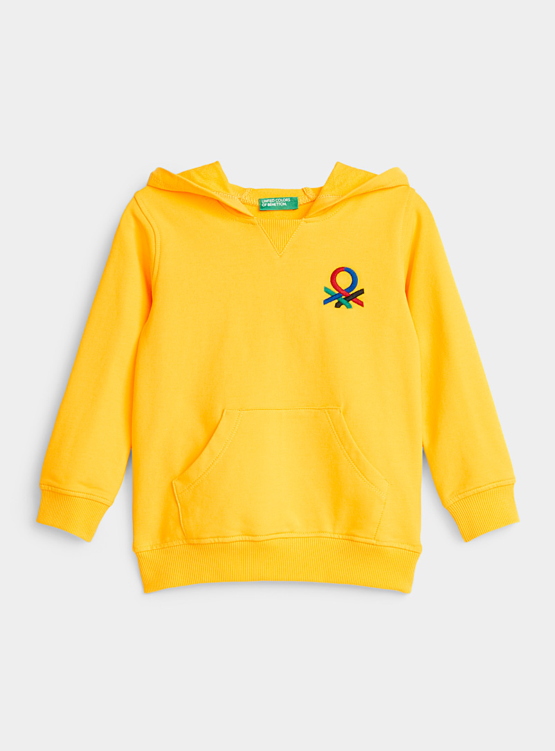 United Colors of Benetton Golden Yellow Colourful hoodie  Kids for women