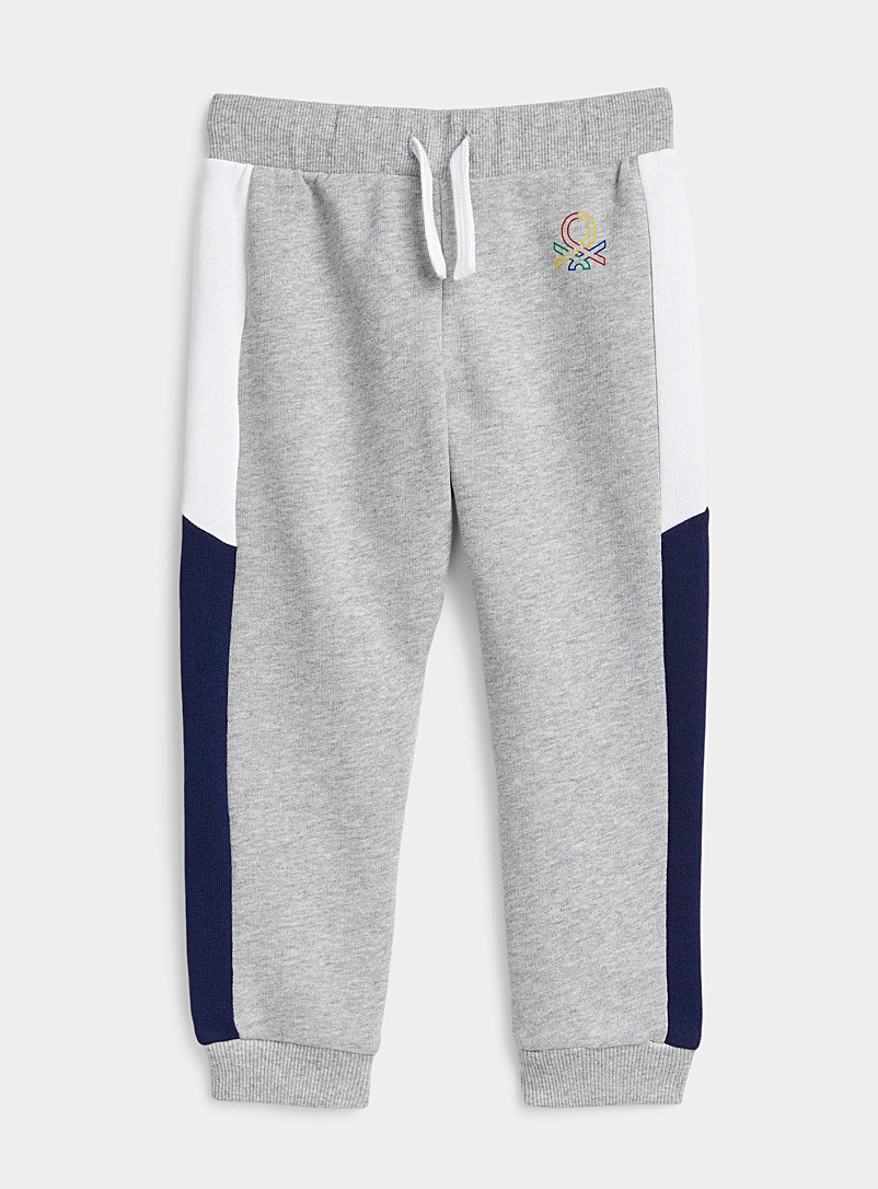 United Colors of Benetton Patterned Grey Two-tone trim joggers Kids for women