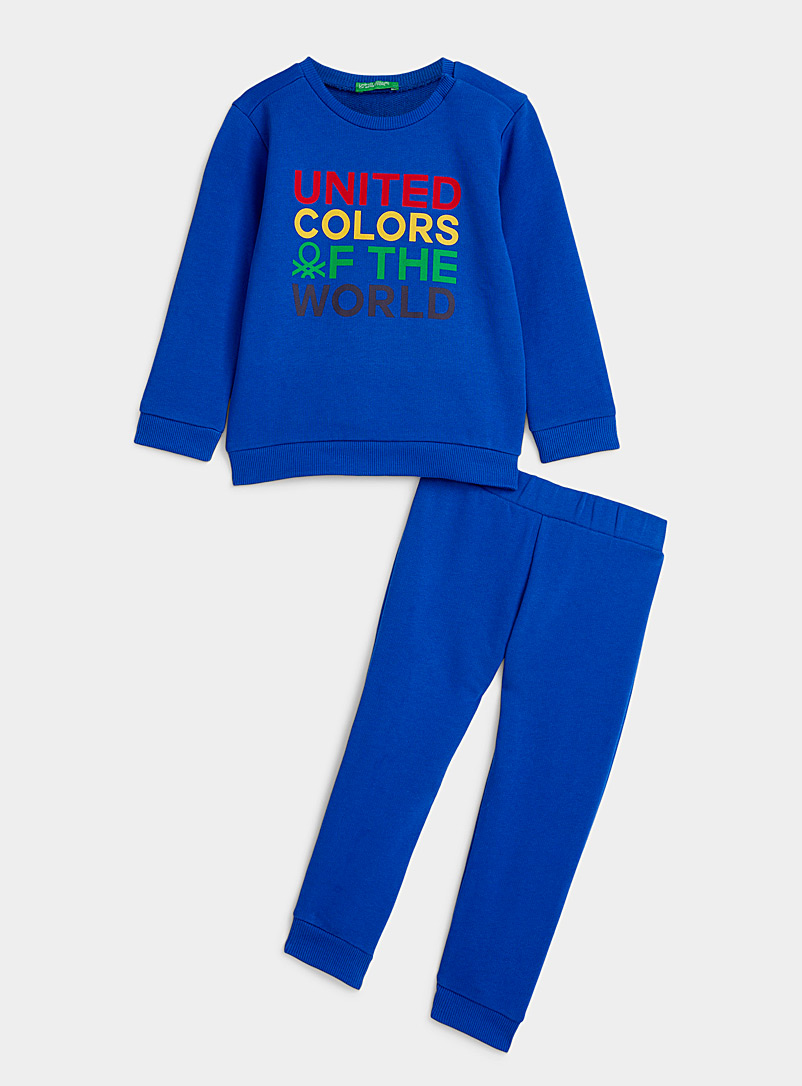 United Colors of Benetton Marine Blue Colourful logo tracksuit 2 pieces - Kids for women