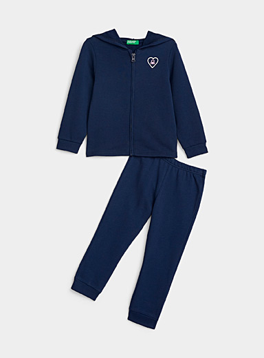 United Colors of Benetton Marine Blue Logo heart tracksuit  2 pieces - Kids for women