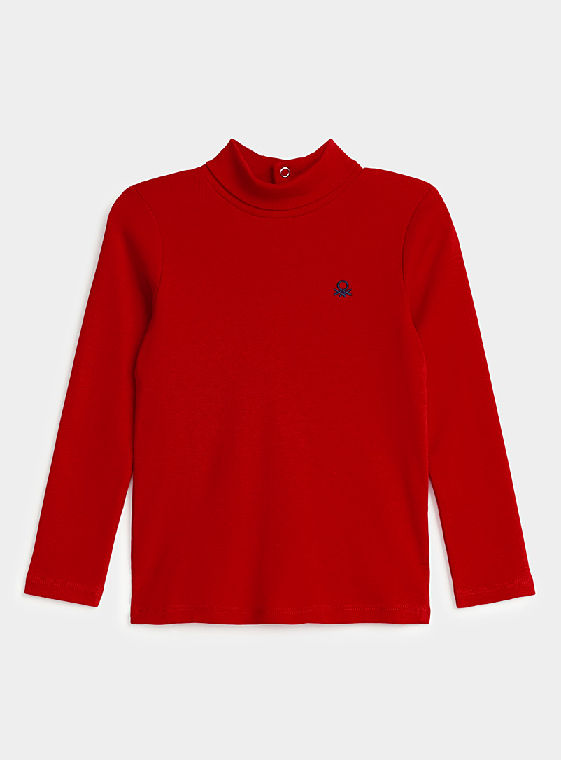 United Colors of Benetton Red Turtleneck T-shirt for women
