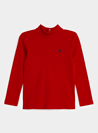 United Colors of Benetton Red Turtleneck T-shirt  Kids for women