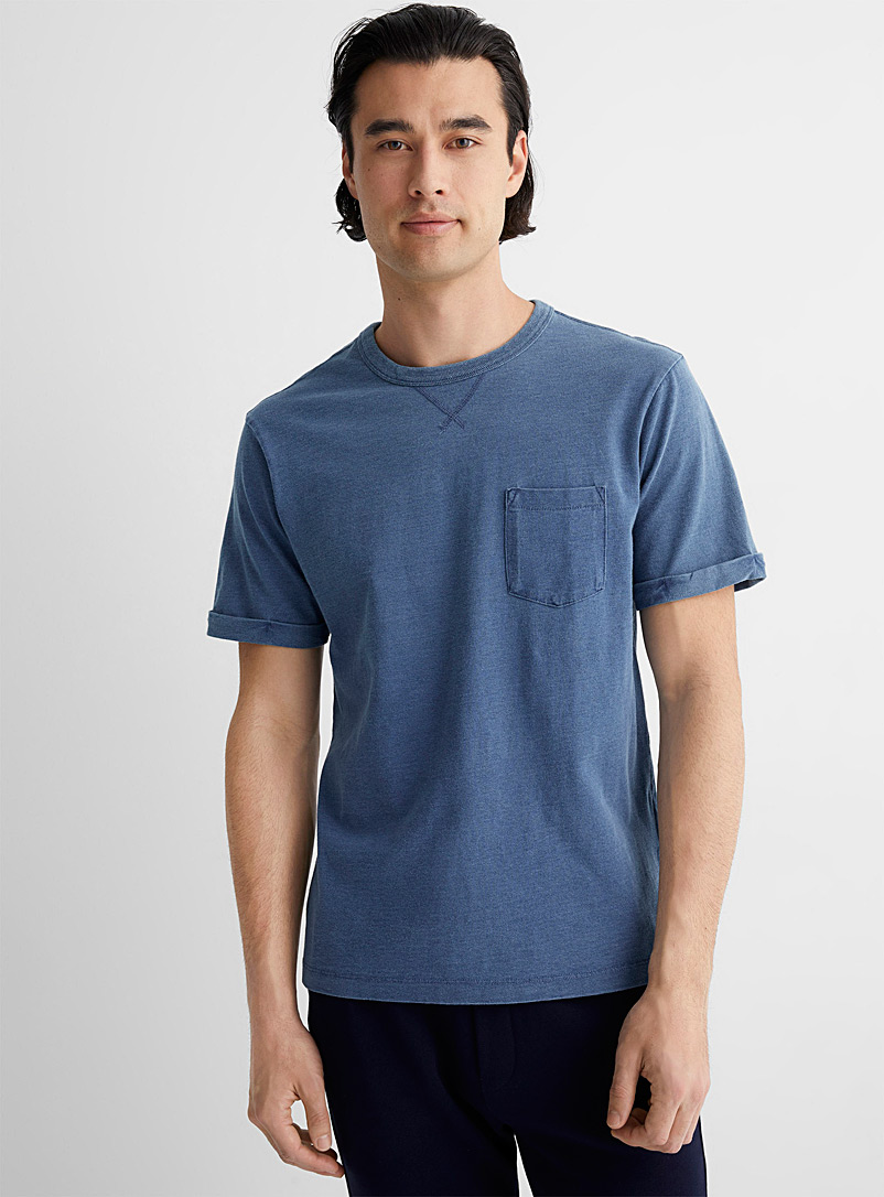 United Colors of Benetton Blue Faded indigo T-shirt for men
