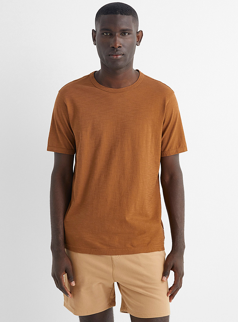United Colors of Benetton Brown Animal figuration T-shirt for men