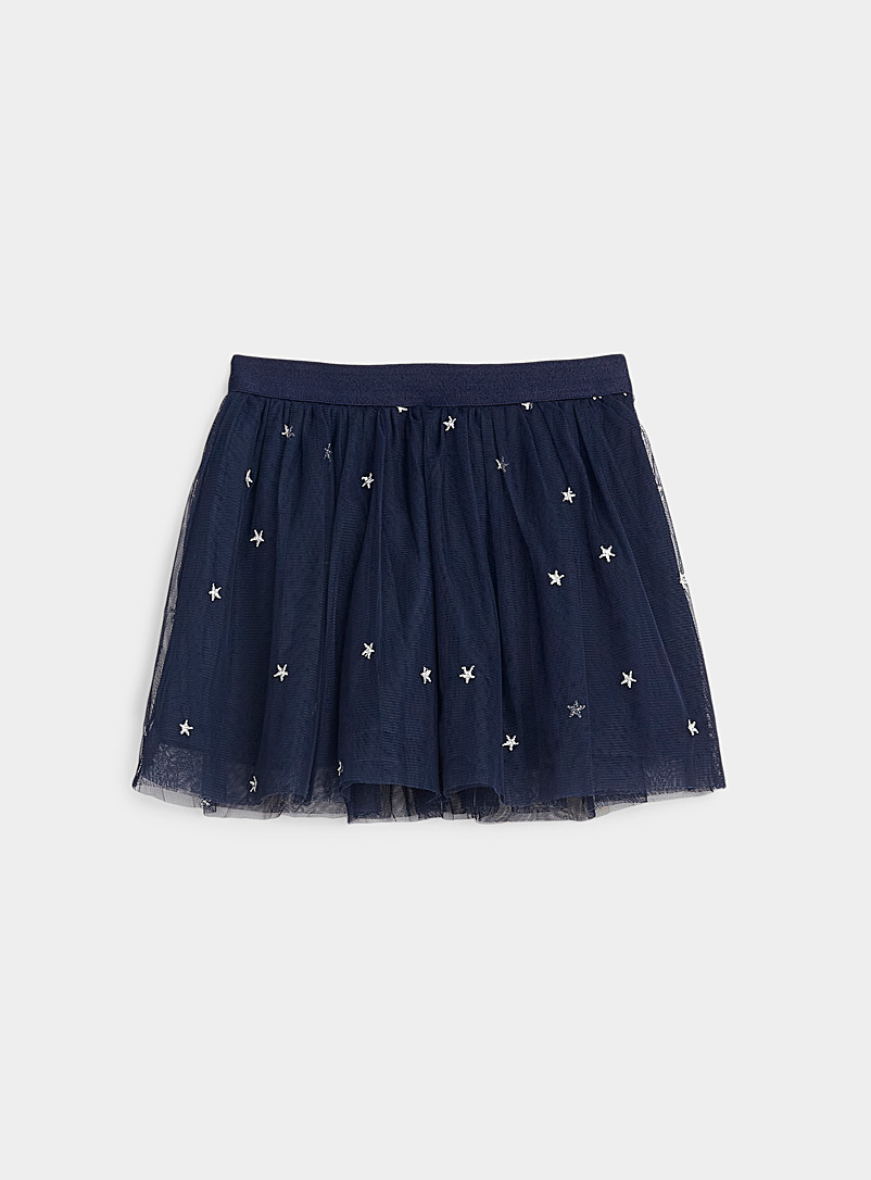United Colors of Benetton Marine Blue Starry sky tulle skirt  Kids for women