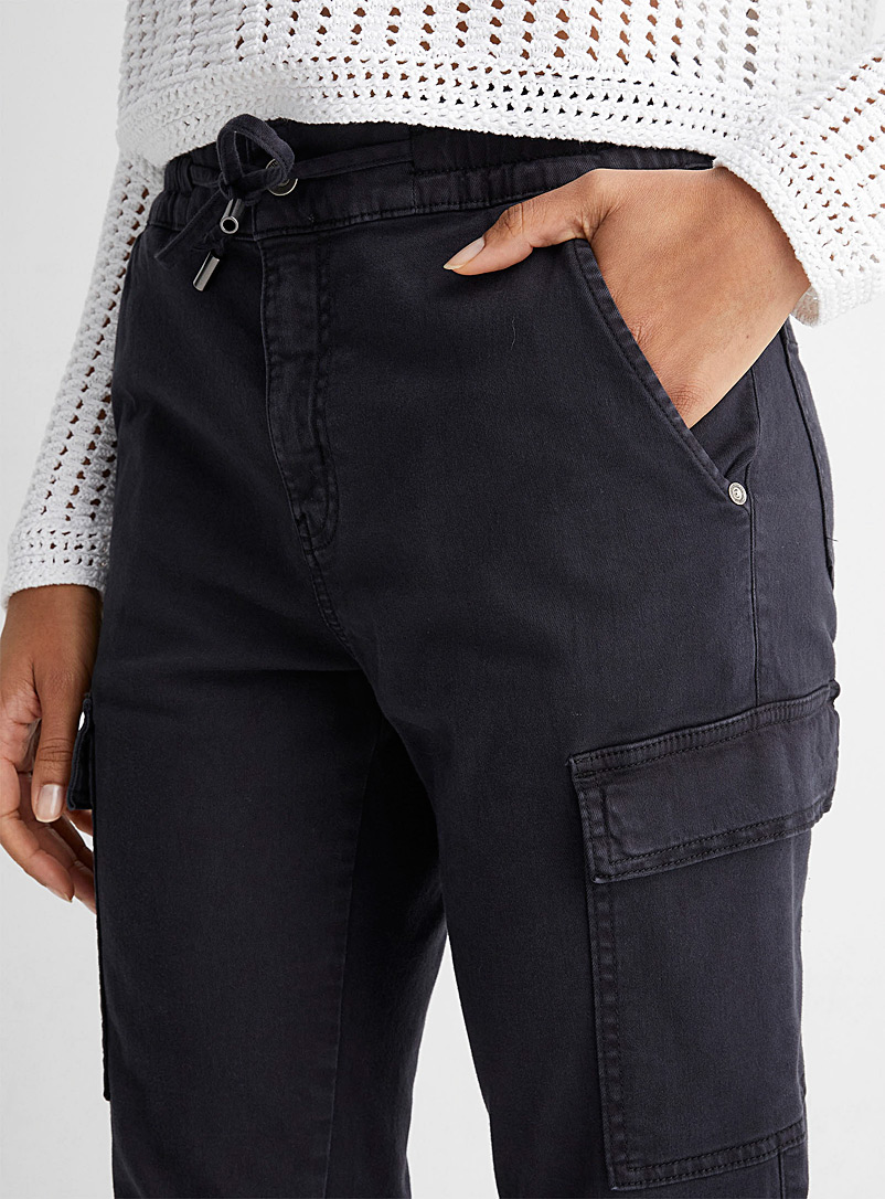 United Colors of Benetton Sand Ribbed-trim cargo pant for women
