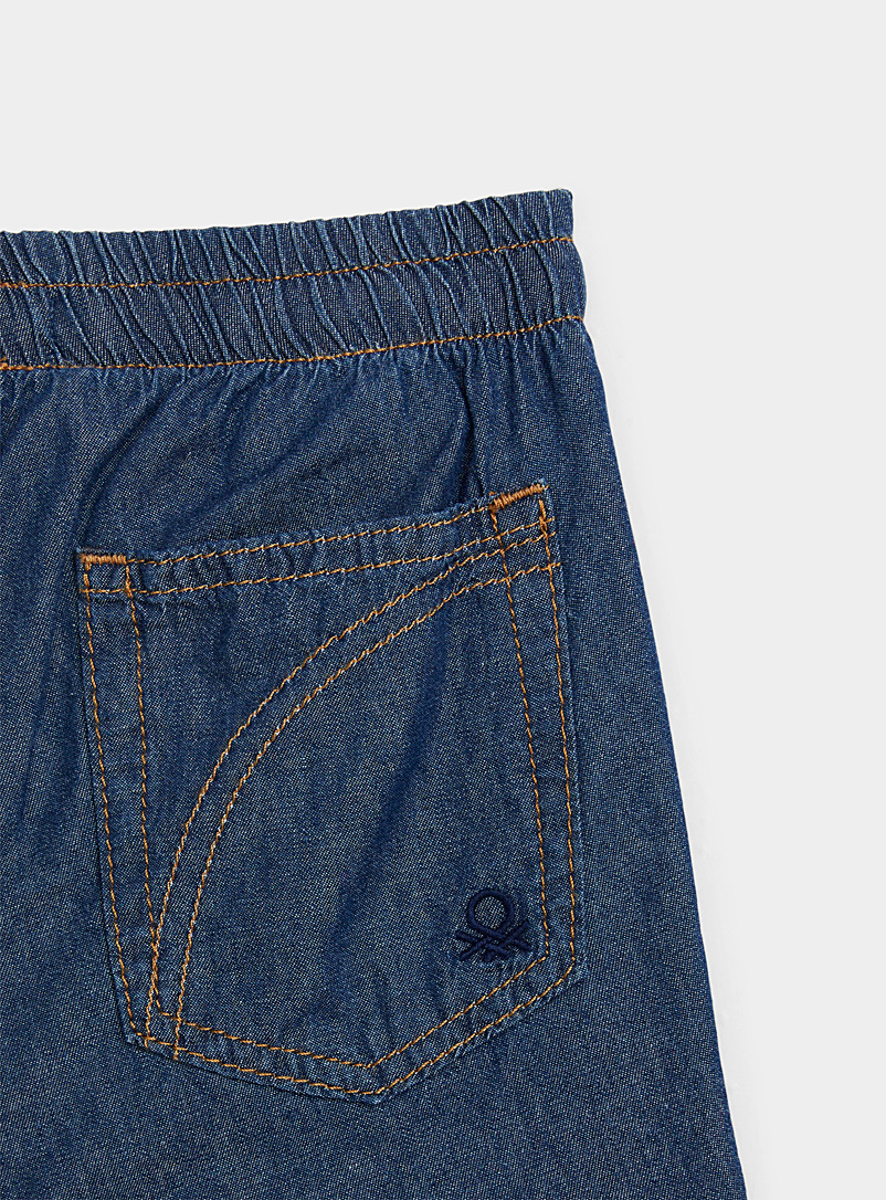 United Colors of Benetton Marine Blue Jersey-lined denim joggers  Kids for women