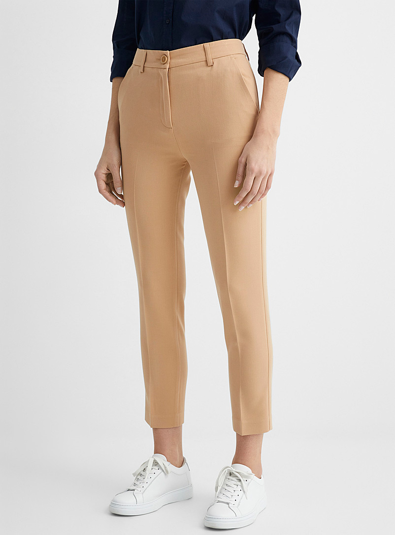 United Colors of Benetton Sand Dressy stretch slim pant for women