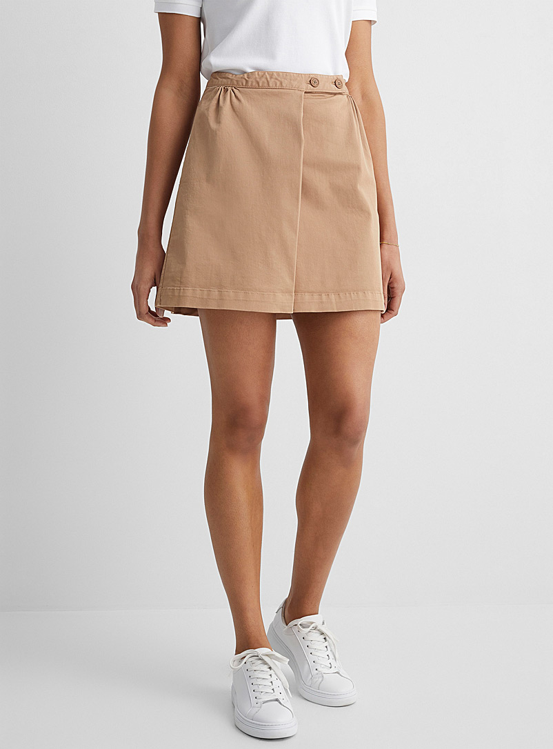 United Colors of Benetton: La short coton panneau avant Sable pour femme